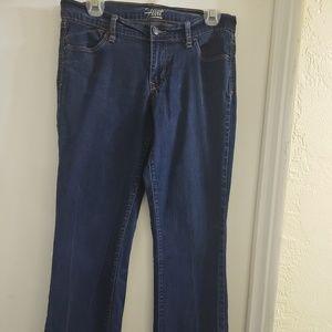 Flirt Mid Rise Straight Leg Jeans